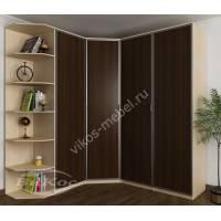 модульный шкаф угловой с распашными дверями