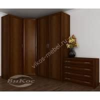 4-створчатый угловой шкаф в спальню