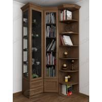 шкаф угловой в гостиную для книг
