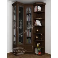узкий шкаф угловой для книг