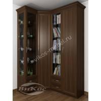 4-дверный распашной угловой шкаф
