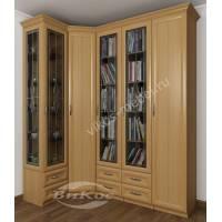 витражный шкаф угловой с распашными дверями