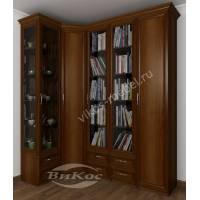 широкий шкаф угловой с распашными дверями