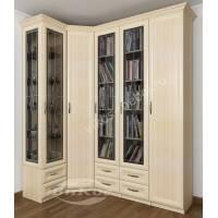 широкий шкаф угловой для книг