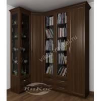 шкаф угловой в гостиную цвета венге