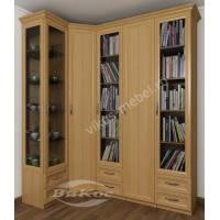 шкаф угловой с распашными дверями в гостиную