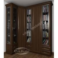 шкаф угловой с распашными дверями цвета венге