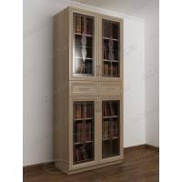 2-дверный шкаф для книг цвета шимо светлый