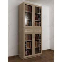 2-дверный шкаф для книг с пескоструйным рисунком