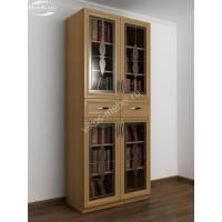 витражный шкаф для книг цвета бук