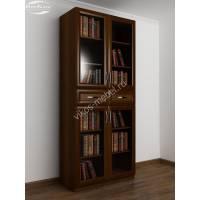 2-дверный шкаф для книг цвета яблоня