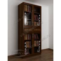 2-дверный шкаф для книг с пескоструем
