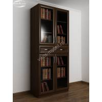 2-дверный шкаф для книг цвета венге