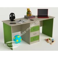 детский письменный стол с ящиками зеленого цвета