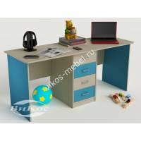 детский письменный стол с ящиками цвета мармара голубой