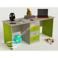 детский письменный стол с ящиками цвета зеленый лайм
