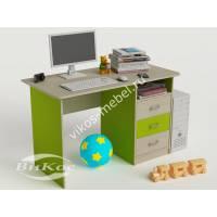 письменный стол в детскую с выдвижными ящиками цвета зеленый лайм