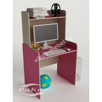 девчачий стол для учебы розового цвета