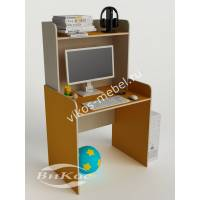 стол для учебы с надстройкой желтого цвета