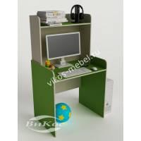 стол для учебы с надстройкой зеленого цвета