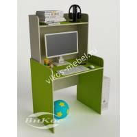 стол для учебы с надстройкой цвета зеленый лайм
