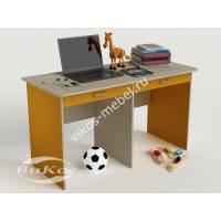 детский письменный стол с ящиками для мелочей желтого цвета