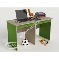 детский письменный стол с ящиками для мелочей зеленого цвета