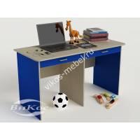 детский письменный стол для мальчика синего цвета