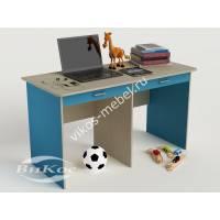 детский письменный стол с ящиками для мелочей цвета мармара голубой