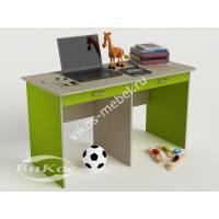детский письменный стол с ящиками для мелочей цвета зеленый лайм