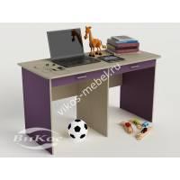 детский письменный стол с ящиками для мелочей филетового цвета