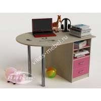 девчачий письменный стол в детскую розового цвета