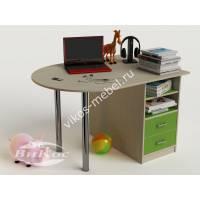 письменный стол в детскую с ящиками зеленого цвета