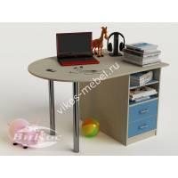 письменный стол в детскую для парня голубого цвета