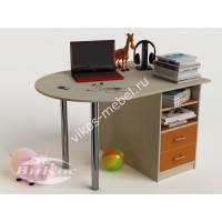 письменный стол в детскую с ящиками оранжевого цвета