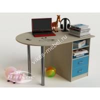 мальчуковый письменный стол в детскую цвета мармара голубой