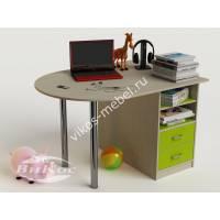 письменный стол в детскую с ящиками цвета зеленый лайм