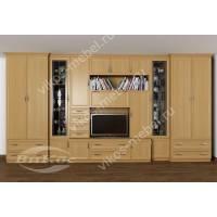мебельная стенка в кабинет с вместительным шкафом