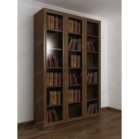 3-створчатый книжный шкаф цвета шимо темный