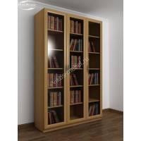3-створчатый книжный шкаф цвета бук