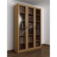 книжный шкаф c витражным стеклом цвета бук