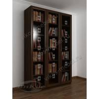 3-створчатый книжный шкаф с пескоструем
