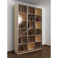 3-створчатый книжный шкаф цвета беленый дуб - венге