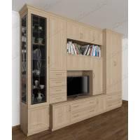 классическая мебельная стенка цвета шимо светлый