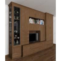 мебельная стенка в классическом стиле цвета шимо темный