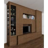 классическая мебельная стенка в гостиную