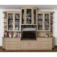 классическая мебельная стенка в кабинет