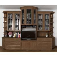 мебельная стенка в кабинет цвета шимо темный