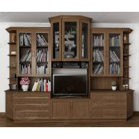 мебельная стенка в кабинет в классическом стиле