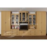 мебельная стенка в гостиную с вместительным шкафом
